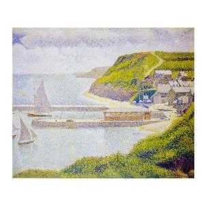 絵画 壁掛け 額縁 アートフレーム付き ジョルジュ・スーラ 「ポール・アン・ベサンの港」 F8号 世界の名画シリーズ プリハード|touo