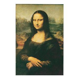 絵画 壁掛け 額縁 アートフレーム付き レオナルド・ダ・ヴィンチ 「モナ・リザ」 M8号 世界の名画シリーズ プリハード|touo