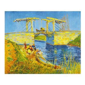 絵画 壁掛け 額縁 アートフレーム付き ヴィンセント・ヴァン・ゴッホ 「アルルのはね橋(アングロワ橋)」 F8号 世界の名画シリーズ プリハード|touo