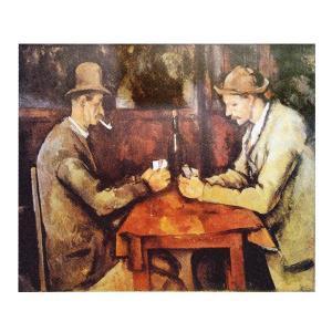 絵画 壁掛け 額縁 アートフレーム付き ポール・セザンヌ 「カルタ遊びをする人々」 サイズF10号 世界の名画シリーズ プリハード|touo