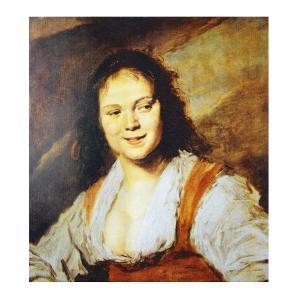 絵画 壁掛け 額縁 アートフレーム付き フランス・ハルス 「ジプシー女」 サイズF10号 世界の名画シリーズ プリハード|touo