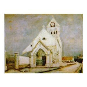 絵画 壁掛け 額縁 アートフレーム付き モーリス・ユトリロ 「ドゥイユの教会」 P10号 世界の名画シリーズ プリハード|touo