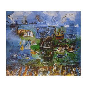 絵画 壁掛け 額縁 アートフレーム付き ラウル・デュフィ 「ル・アーヴルの水の祭」 P10号 世界の名画シリーズ プリハード|touo