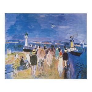 絵画 壁掛け 額縁 アートフレーム付き ラウル・デュフィ 「オンフルールの埠頭」 P10号 世界の名画シリーズ プリハード|touo