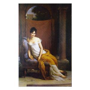 絵画 壁掛け 額縁 アートフレーム付き フランソワ・ジェラール 「マダム・レカミエ」 P10号 世界の名画シリーズ プリハード|touo