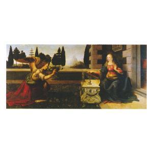 絵画 壁掛け 額縁 アートフレーム付き レオナルド・ダ・ヴィンチ 「受胎告知」 10号 世界の名画シリーズ プリハード|touo