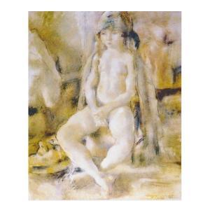 絵画 壁掛け 額縁 アートフレーム付き ジュール・パスキン 「サロメ」 P10号 世界の名画シリーズ プリハード|touo
