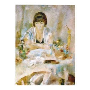 絵画 壁掛け 額縁 アートフレーム付き ジュール・パスキン 「ルーシー・クローグの肖像」 P10号 世界の名画シリーズ プリハード|touo