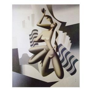 絵画 壁掛け 額縁 アートフレーム付き 東郷 青児 「リオ・デ・ジャネイロ」 P10号 世界の名画シリーズ プリハード|touo