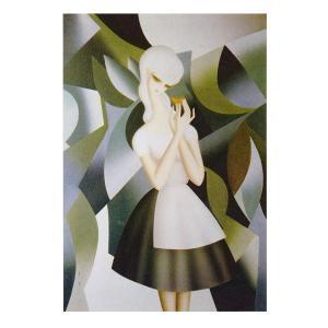 絵画 壁掛け 額縁 アートフレーム付き 東郷 青児 「蝶」 P10号 世界の名画シリーズ プリハード|touo