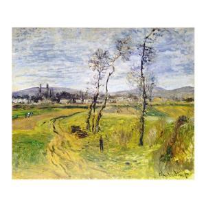 絵画 壁掛け 額縁 アートフレーム付き クロード・モネ 「ジェヌヴィエールの平野」 P10号 世界の名画シリーズ プリハード|touo