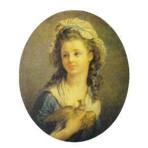 絵画 壁掛け 額縁 アートフレーム付き ジャン・オノレ・フラゴナール 「鳩を抱く少女」 大全紙 世界の名画シリーズ プリハード|touo