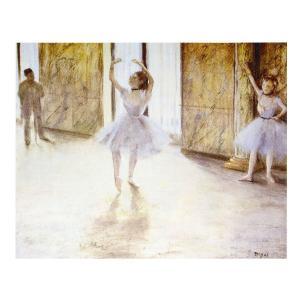 絵画 壁掛け 額縁 アートフレーム付き エドガー・ドガ 「ダンスの稽古」 P10号 世界の名画シリーズ プリハード|touo