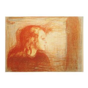 絵画 壁掛け 額縁 アートフレーム付き エドヴァルド・ムンク 「病める子」 P10号 世界の名画シリーズ プリハード|touo