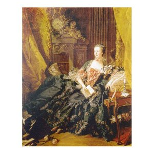 絵画 壁掛け 額縁 アートフレーム付き フランソワ・ブーシェ 「マダム・ド・ポンパドゥール」 P10号 世界の名画シリーズ プリハード|touo