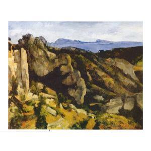 絵画 壁掛け 額縁 アートフレーム付き ポール・セザンヌ 「エスタックの岩」 P10号 世界の名画シリーズ プリハード|touo