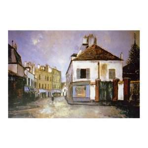 絵画 壁掛け 額縁 アートフレーム付き モーリス・ユトリロ 「郊外の通り」 P10号 世界の名画シリーズ プリハード|touo