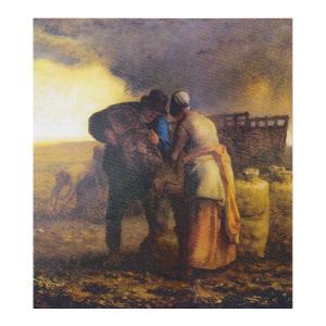 絵画 壁掛け 額縁 アートフレーム付き ジャン・フランソワ・ミレー 「馬鈴薯の収穫(部分)」 サイズF10号 世界の名画シリーズ プリハード|touo