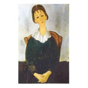絵画 壁掛け 額縁 アートフレーム付き アメディオ・モディリアーニ 「坐る少女(ユゲット)」 M10号 世界の名画シリーズ プリハード|touo