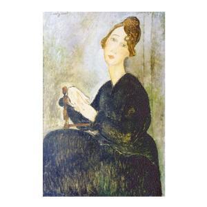 絵画 壁掛け 額縁 アートフレーム付き アメディオ・モディリアーニ 「デディ・アイデン」 M10号 世界の名画シリーズ プリハード|touo
