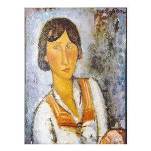 絵画 壁掛け 額縁 アートフレーム付き アメディオ・モディリアーニ 「ジプシー女」P10号 世界の名画シリーズ プリハード|touo