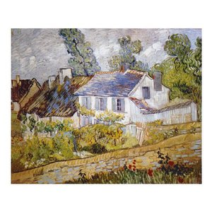 絵画 壁掛け 額縁 アートフレーム付き ヴィンセント・ヴァン・ゴッホ 「オーヴェールの家々」 P10号 世界の名画シリーズ プリハード|touo