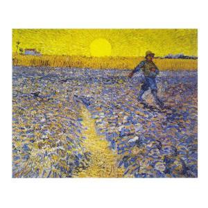 絵画 壁掛け 額縁 アートフレーム付き ヴィンセント・ヴァン・ゴッホ 「種播く人」 P10号 世界の名画シリーズ プリハード|touo