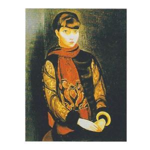 絵画 壁掛け 額縁 アートフレーム付き モイズ・キスリング 「リタ・ヴァン・リアの肖像」 P10号 世界の名画シリーズ プリハード|touo