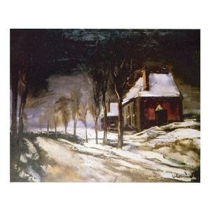 絵画 壁掛け 額縁 アートフレーム付き モーリス・ド・ブラマンク 「雪の道と家」 P10号 世界の名画シリーズ プリハード|touo