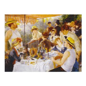 絵画 壁掛け 額縁 アートフレーム付き ピエール・オーギュスト・ルノワール 「舟遊びをする人々の昼食」 P10号 世界の名画シリーズ プリハード|touo