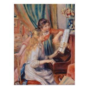 絵画 壁掛け 額縁 アートフレーム付き ピエール・オーギュスト・ルノワール 「ピアノに寄る娘達」 P10号 世界の名画シリーズ プリハード|touo