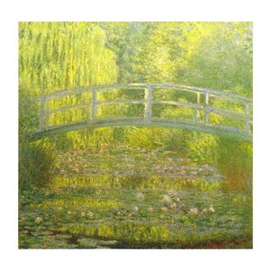 絵画 壁掛け 額縁 アートフレーム付き クロード・モネ 「睡蓮・緑のハーモニー」 S8号 世界の名画シリーズ プリハード|touo