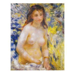 絵画 壁掛け 額縁 アートフレーム付き ピエール・オーギュスト・ルノワール 「エチュウド・若い女のトルソ」 P10号 世界の名画シリーズ プリハード|touo