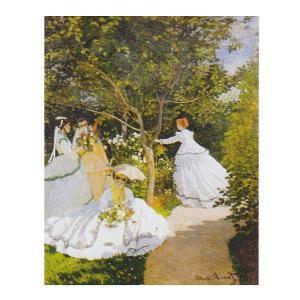 絵画 壁掛け 額縁 アートフレーム付き クロード・モネ 「庭の女たち」 P10号 世界の名画シリーズ プリハード|touo