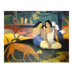 絵画 壁掛け 額縁 アートフレーム付き ポール・ゴーギャン 「フレアレア」 P10号 世界の名画シリーズ プリハード touo