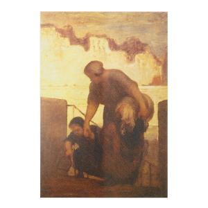 絵画 壁掛け 額縁 アートフレーム付き オノレ・ドーミエ 「洗濯女」 M12号 世界の名画シリーズ プリハード|touo