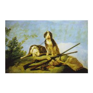 絵画 壁掛け 額縁 アートフレーム付き フランシスコ・デ・ゴヤ 「猟犬と狩猟具」 M12号 世界の名画シリーズ プリハード|touo