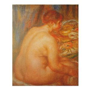 絵画 壁掛け 額縁 アートフレーム付き ピエール・オーギュスト・ルノワール 「帽子を脱いだ浴女」 F15号 世界の名画シリーズ プリハード|touo
