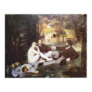 絵画 壁掛け 額縁 アートフレーム付き エドゥアール・マネ 「草上の食事」 P15号 世界の名画シリーズ プリハード touo
