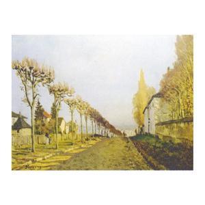 絵画 壁掛け 額縁 アートフレーム付き アルフレッド・シスレー 「セーヴルへの眺め」 M15号 世界の名画シリーズ プリハード|touo
