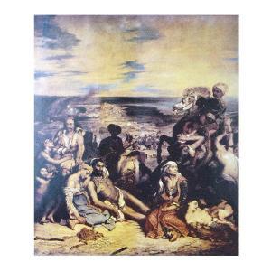 絵画 壁掛け 額縁 アートフレーム付き ウジェーヌ・ドラクロワ 「シオの虐殺」 F15号 世界の名画シリーズ プリハード|touo