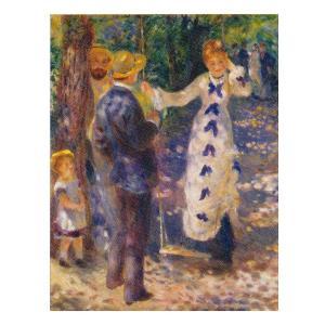 絵画 壁掛け 額縁 アートフレーム付き ピエール・オーギュスト・ルノワール 「ぶらんこ」 P15号 世界の名画シリーズ プリハード|touo
