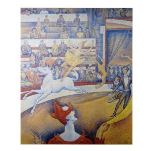 絵画 壁掛け 額縁 アートフレーム付き ジョルジュ・スーラ 「サーカス」 F15号 世界の名画シリーズ プリハード|touo