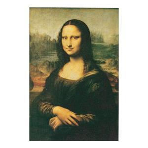 絵画 壁掛け 額縁 アートフレーム付き レオナルド・ダ・ヴィンチ 「モナ・リザ」 M20A号 世界の名画シリーズ プリハード|touo