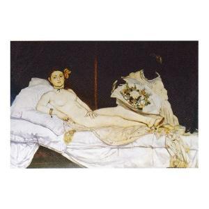 絵画 壁掛け 額縁 アートフレーム付き エドゥアール・マネ 「オランピア」 M20A号 世界の名画シリーズ プリハード touo