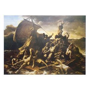 絵画 壁掛け 額縁 アートフレーム付き テオドール・ジェリコー 「メディュース号の?」 M20A号 世界の名画シリーズ プリハード|touo