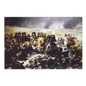 絵画 壁掛け 額縁 アートフレーム付き アントワーヌ=ジャン・グロ 「エイローの戦闘」 M20A号 世界の名画シリーズ プリハード|touo