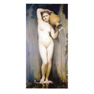 絵画 壁掛け 額縁 アートフレーム付き ドミニク・アングル 「泉」 M20B号 世界の名画シリーズ プリハード|touo