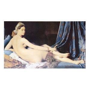 絵画 壁掛け 額縁 アートフレーム付き ドミニク・アングル 「ラ・グランド・オダリスク」 M20C号 世界の名画シリーズ プリハード|touo