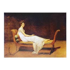 絵画 壁掛け 額縁 アートフレーム付き ジャック・ルイ・ダヴィット 「レカミエ夫人の肖像」 M20A号 世界の名画シリーズ プリハード|touo